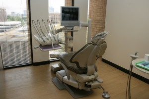 Dental chair - operatory area - at Galleria Cosmetic Dentist.